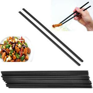 24CM Chef-Aid Chopsticks Plain Black MELAMINE 6 Pairs Plastic Sushi Chinese