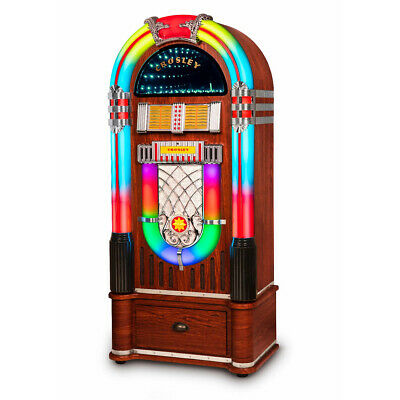 Crosley Digital LED Jukebox with Bluetooth - Walnut With Sta