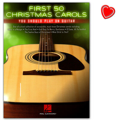 First 50 Christmas Carols You Should Play on Guitar - HL00236224 - 9781495096068