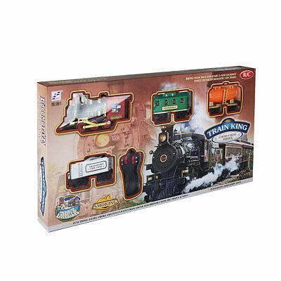 RC Christmas Train Set with Real Smoke Music & Lights