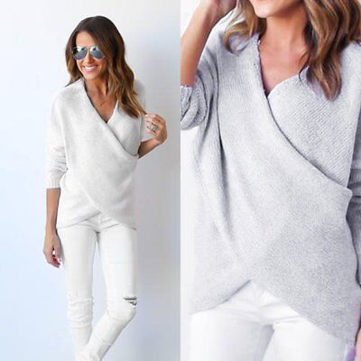 Women Long Sleeve Knitted Sweater Loose Casual Solid Cardigan Tops Outwear Coat
