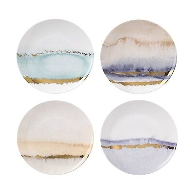 """LenoxRadiance Seasons Tidbit Bone China Bread and Butter Plates 6.3"""", Set of 4"""