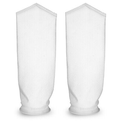 Lot of 2 x 5 Micron 7x32 Singed Polyester Felt Filter Bag PESP2S Size 2