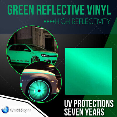 Green Reflective Vinyl Adhesive Cutter Sign Hight Reflectivity 24 X 10 Ft