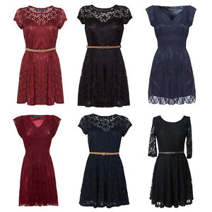 NEW-MELA-LOVES-LONDON-LADIES-FLORAL-LACE-LADIES-MINI-SKATER-DRESS-SIZE-8-14-UK