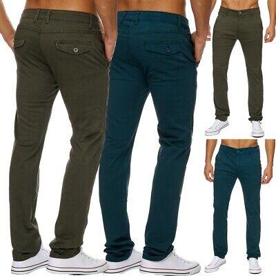 Herren CHINO Stil lang Hose Slim gerades Bein Regular Fit Blogger Mode Top Neu
