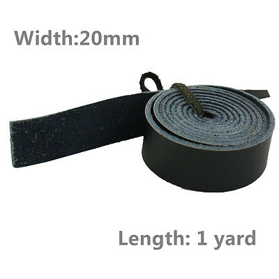 Leathercraft Black Genuine Leather Strap Belt, Width 20mm, Length 1 Yard