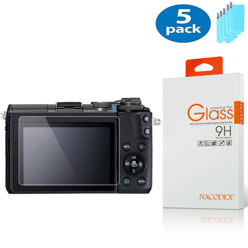 5-Pack Nacodex For Canon EOS M100 Tempered Glass Screen Protector