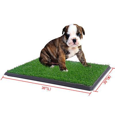 Puppy Potty Patch Pet Trainer Indoor Training Pet Dog Grass Pad Pee Mat Turf