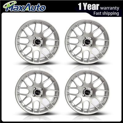 4PCS 17X7 4X100 Wheels 73.1 +42 mm Silver 4 Lug Rims For Chevrolet Spark