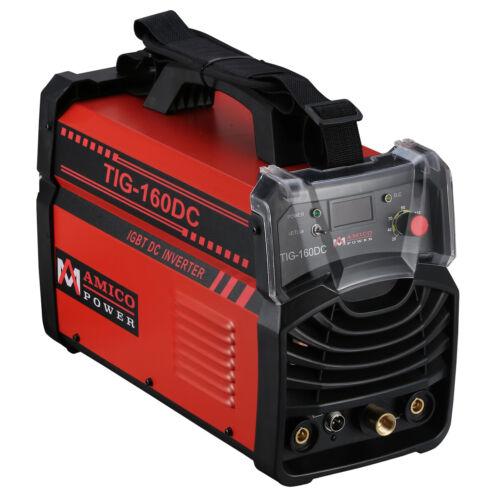 TIG-160DC, 160A TIG Torch Stick DC Welder, High Frequency & Voltage, 100% Start