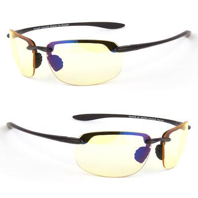 Gaming Glasses Yellow Tint Blue Light Blocking Computer Smart Phone (Sunglasses Yellow Tint)