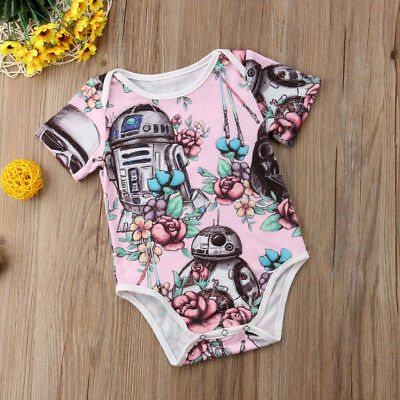 Cute Star Wars Infant Baby Girl Romper Bodysuit Sunsuit Clothes Outfits US Stock](Star Wars Babys)