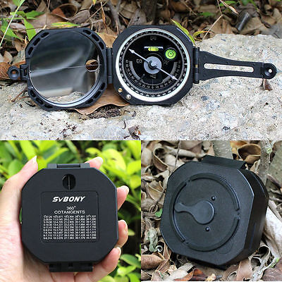 US New Pocket Compass Transit Army Geological for Outdoor Sports Camping&Hiking