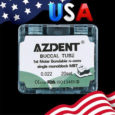 Dental Orthodontic 1st Molar Monoblock Non-convertible Buccal Tube Mbt .022 Sale