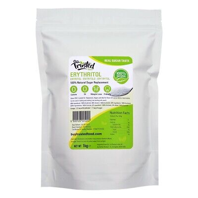 Erythritol 1kg - ZERO Calorie 100% Natural Sugar Replacement - ⭐⭐⭐⭐⭐ QUALITY!