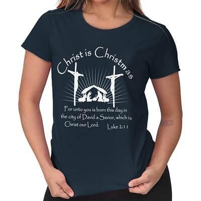 Jesus Christ Christmas Christian Shirt Holiday Religious Gift Ladies Tee Shirt T](Christian Christmas Gifts)