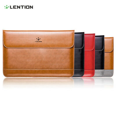 Slim Split Leather Sleeve Laptop Case Bag for MacBook Air/Pro 13 Retina Dell HP