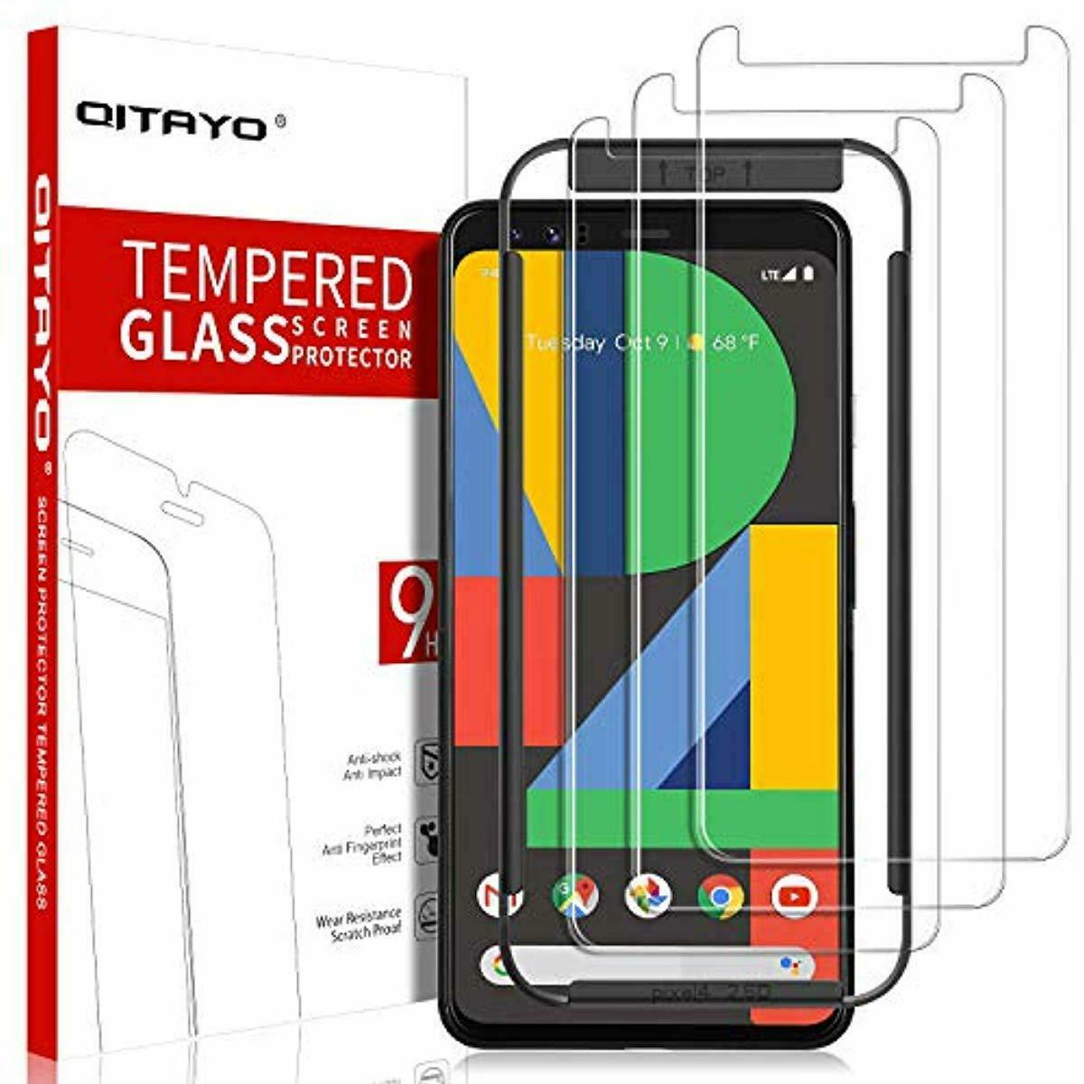 Screen Protector for Samsung S9 Plus 3D Full Cover Case Friendly KHAOS Tempered Glass Screen Protector for Samsung Galaxy S9 Plus 4-Pack Black