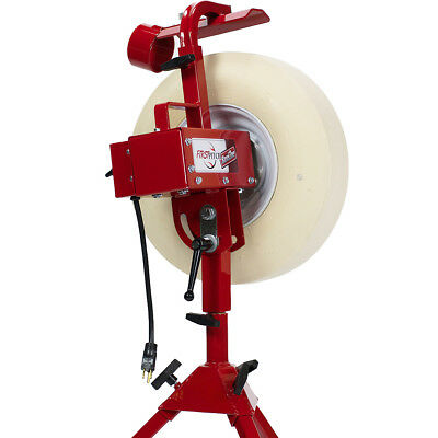 First Pitch Baseline Real Softball and Baseball Pitching Machine Up to 70mph