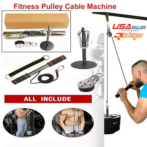 Fitness Pulley Cable Gym Workout DIY Equipment Lifting Machi
