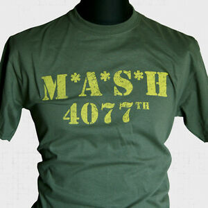 MASH-Retro-TV-Series-T-Shirt-US-Army-Korea-Vintage-Classic-Cool-Hipster-WWII