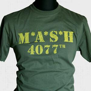 MASH-T-SHIRT-US-ARMY-WWII-PARA-SAS-MOVIE-TV-RERO-70S-80S-KOREA-VIETNAM-COOL