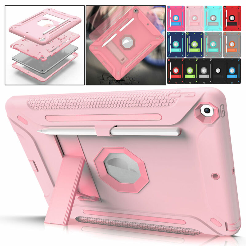 """For Apple iPad 8th Generation 10.2"""" Shockproof Tough Armor Hard Stand Case Cover"""