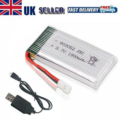 3.7V 25C 1800mah Lipo Battery XH2.54 Plug W USB Charger for RC Quadcopter Drone