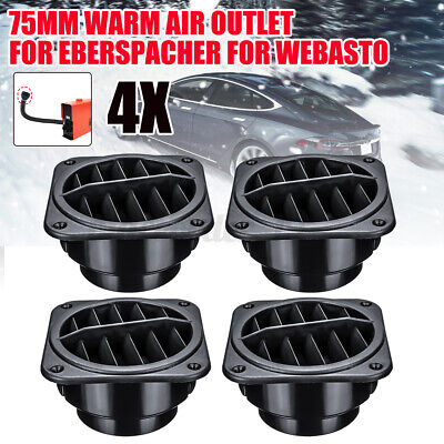 UK 4PCS 75mm Heater Duct Hose Pipe Warm Air Outlet Vent For Webasto Eberspacher