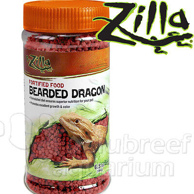Bearded Dragon Lizard Reptile Fortifed Growth/Color Diet Pellet Food 6.5oz Zilla