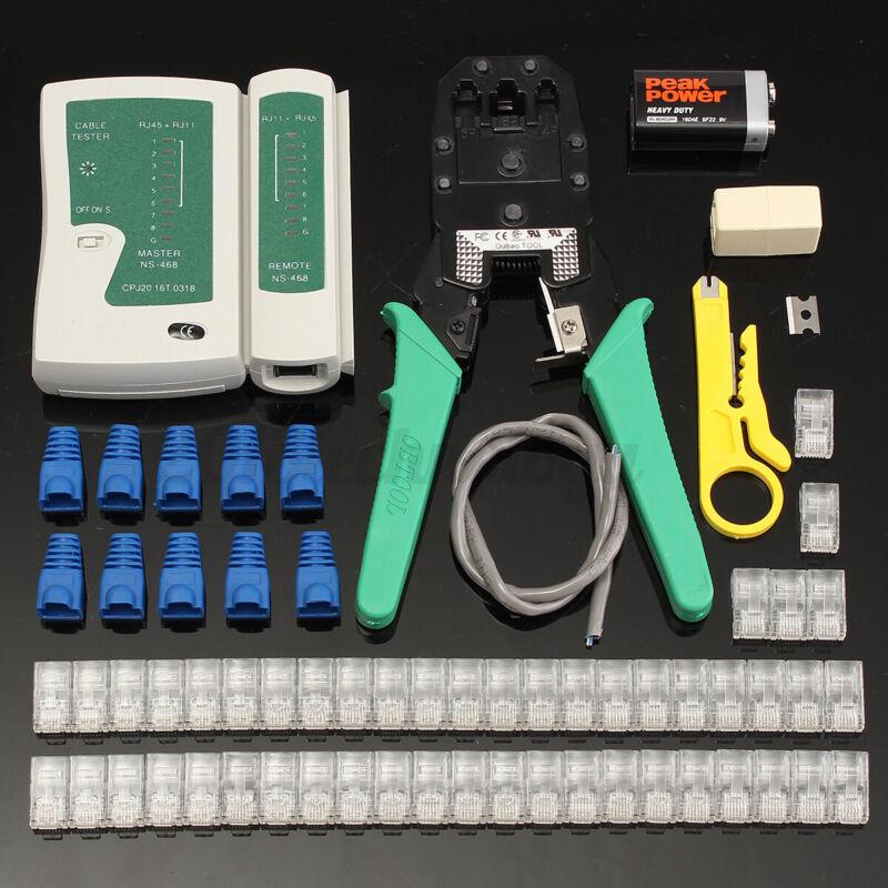 Network Repair Tool kit Ethernet Cable Tester Crimper For RJ11 RJ12 RJ45 Cat5/5e
