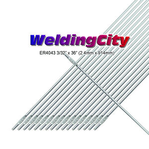 WeldingCity 2-Lb ER4043 Aluminum 4043 TIG Welding Filler Rod 3/32