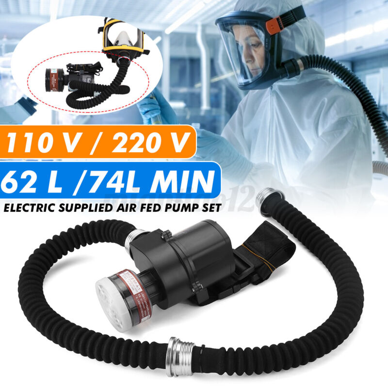 5000 Electric Constant Flow Supplied Air Fed Respirator System Full Face Gas Ma