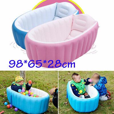 Baby Infant Inflatable Bath Tub Seat Mommy Helper Kid Toddler Portable Bathtub  ()