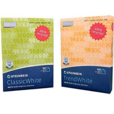 Kopierpapier Papier Druckerpapier Recycling Umweltpapier 500 2500 Blatt 80g