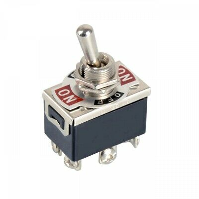 Dpdt 6-pin 3-position Spring Momentary Metal Toggle Switch 240v15a 120v20a Ac