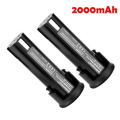 2x Pack 2000mAh 2.4V Ni-Cd Battery For MILWAUKEE 48-11-0100 Cordless Screwdriver 2 Pack 2000mah Battery