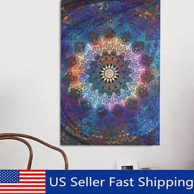 Mandala Tapestry Indian Wall Hanging Decor Bohemian Hippie Bedspread Throw NEW !