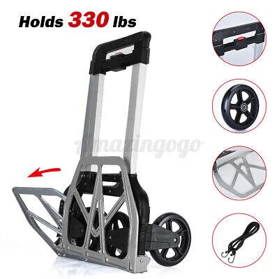 330lbs Heavy Duty Folding Push Cart Portable Travel Shopping Trolley Luggage