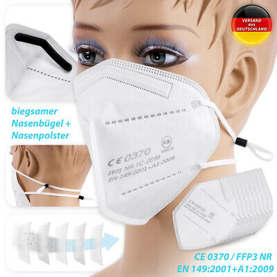 10x FFP3 Schutzmaske Mundschutz Maske 5lagig CE Zertifikat Mund Nase Atemschutz