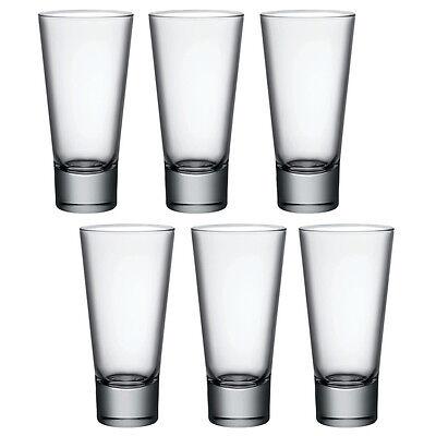 - 6x Bormioli Rocco Ypsilon Hi Ball Tumblers Drinking Glass Glasses Cups Water New