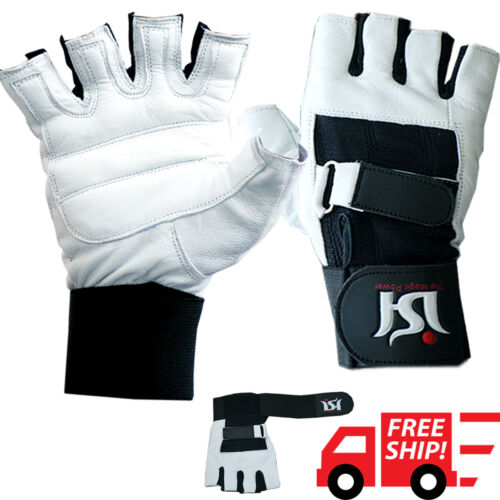 Weight Lifting Gloves Gym Leather Training Workout Exercise Bodybuilding Fitness
