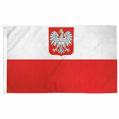 Poland Eagle Flag Polish Flag 3×5 Polyester Indoor Outdoor Flag Country Banner Décor
