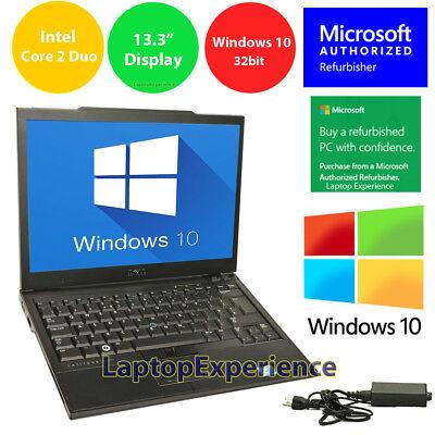 """DELL LAPTOP LATITUDE CORE WINDOWS 10 32bit WIN DVD WiFi NOTEBOOK PC 13.3"""" SSD HD"""