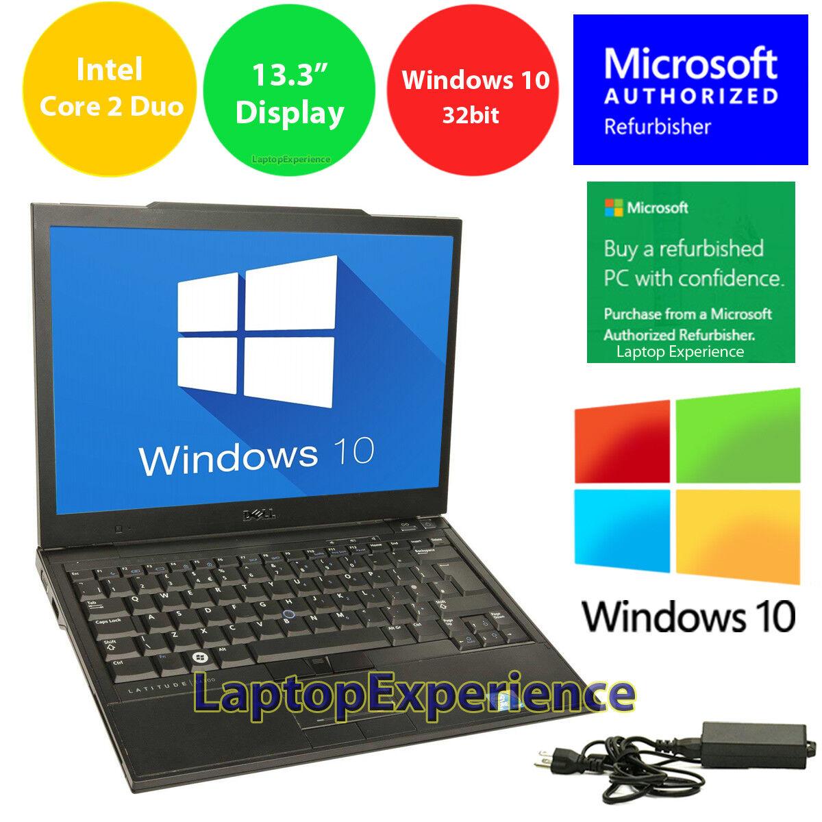 "Laptop Windows - DELL LAPTOP LATITUDE CORE WINDOWS 10 32bit WIN DVD WiFi NOTEBOOK PC 13.3"" HD 3GB"