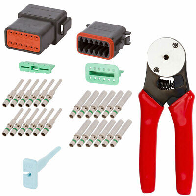 Dt Enhanced Seal 12 Pin Black Connector Kit W 14 Awg Contacts Crimp Tool