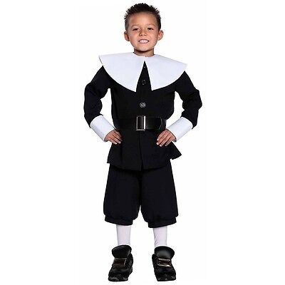Pilgrim Costume Kids Thanksgiving Fancy Dress (Male Pilgrim Costume)