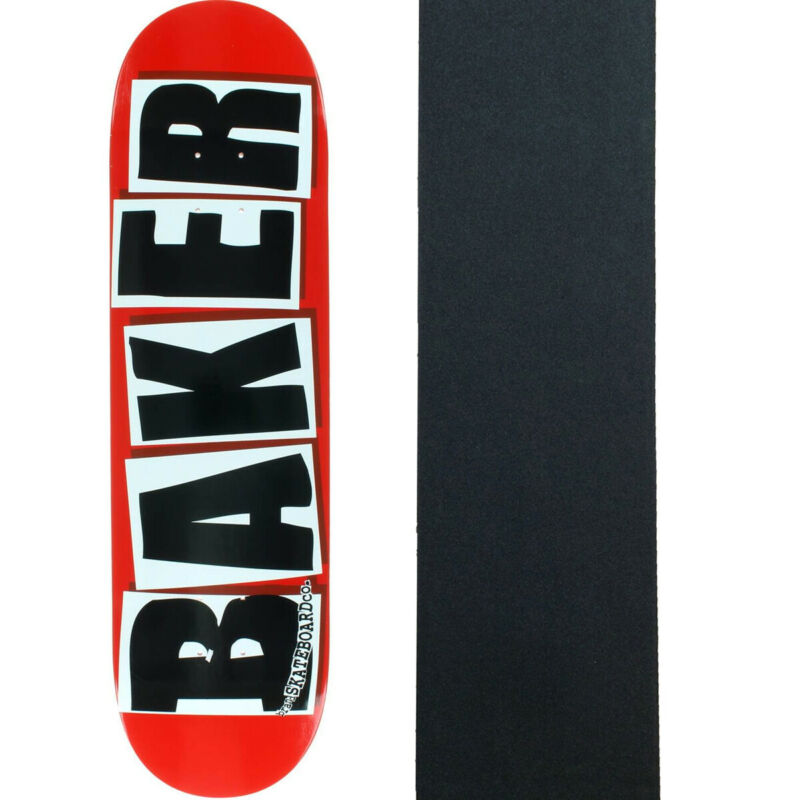 Baker Skateboard Deck Brand Logo Red/Black 8.38