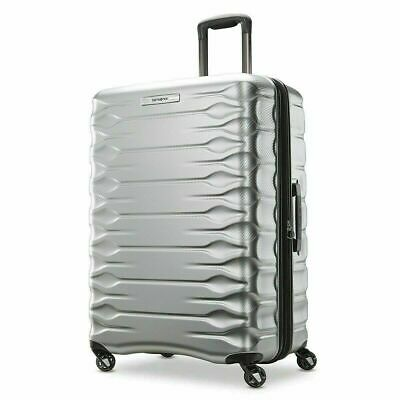 * Samsonite Prisma 360 Silver Spinner 4 Wheel Hardside Suitcase Luggage New 69cm